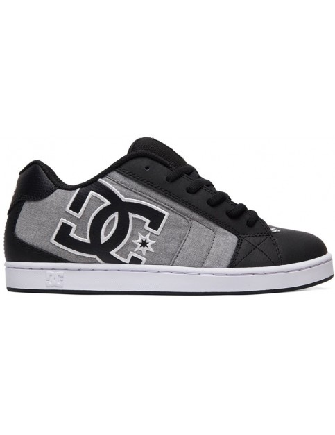 DC Net SE Trainers in Black/Black/White