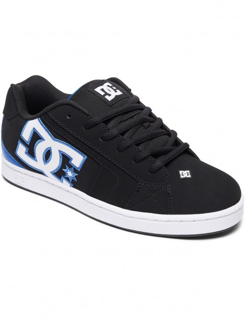 DC Net Trainers in Black/Black/Blue