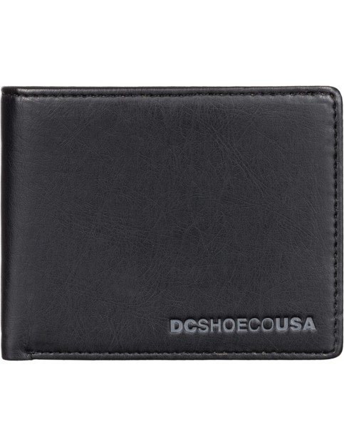 Black DC Pre Mix Faux Leather Wallet