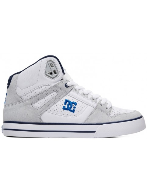 DC Pure HT Trainers in White/Blue