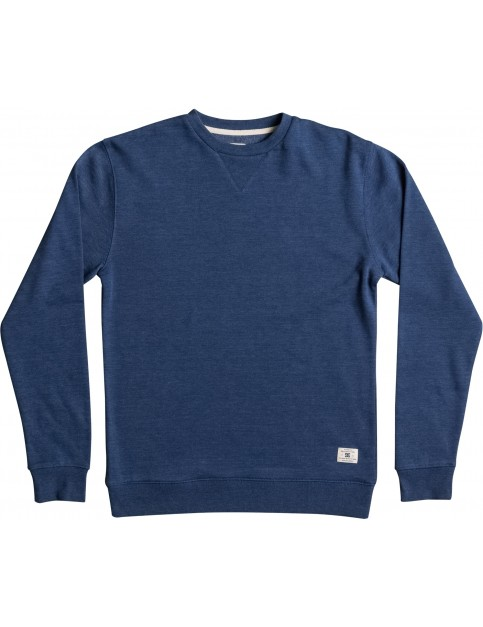 DC Rebel Crew 3 Sweatshirt in Washed Indigo