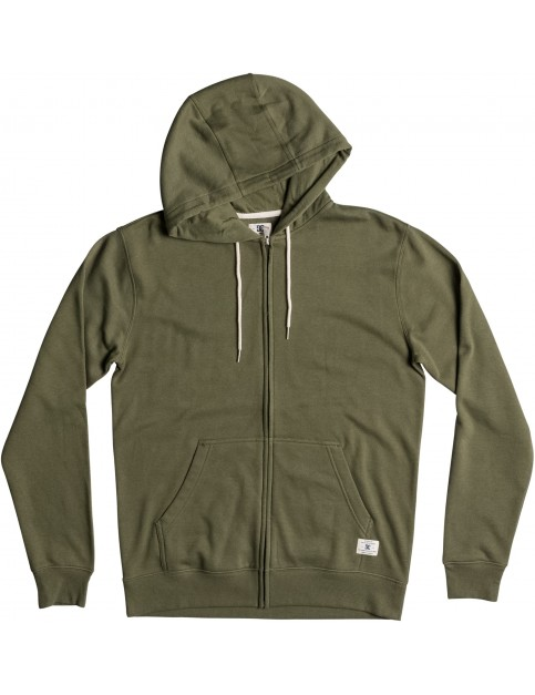 DC Rebel Zipped Hoody in Vintage Green