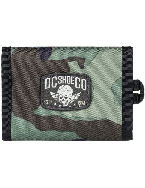 DC Runt Snap Polyester Wallet in Camo