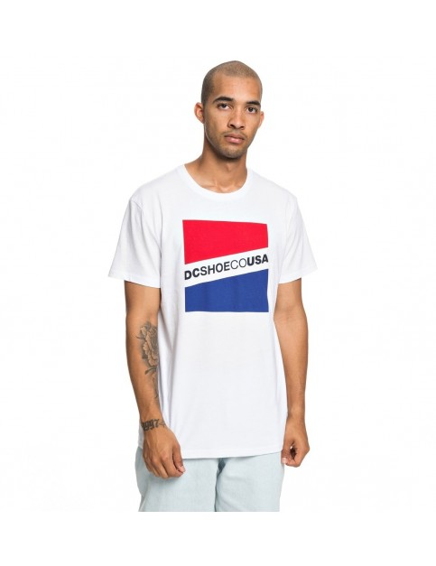 DC Slant Short Sleeve T-Shirt in Snow White