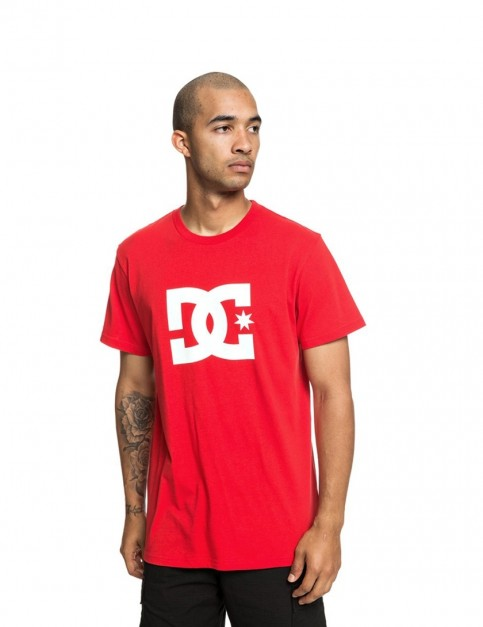DC Star 2 Short Sleeve T-Shirt in Racing Red