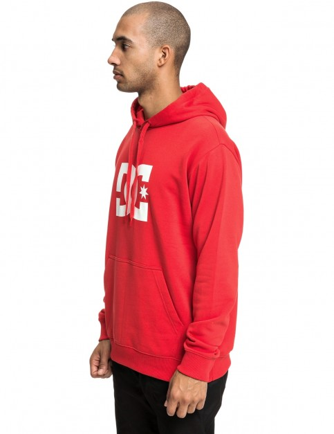 DC Star Pullover Hoody in Racing Red