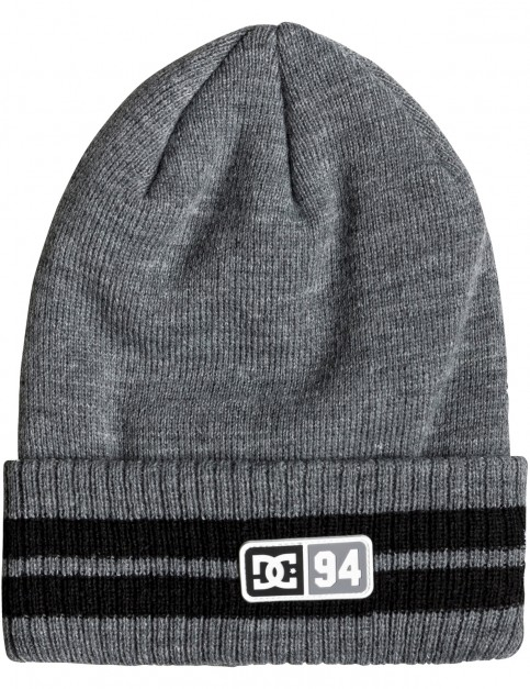 DC Stripe Tamer Beanie in Grey Heather