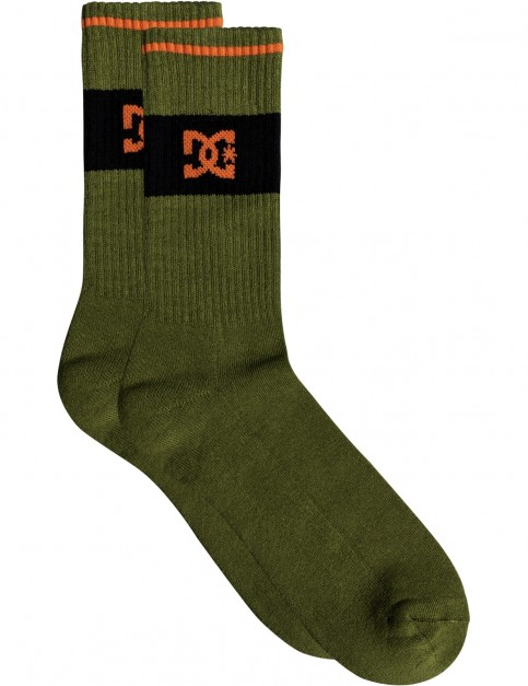 DC To Me Crew Socks in Burnt Olive