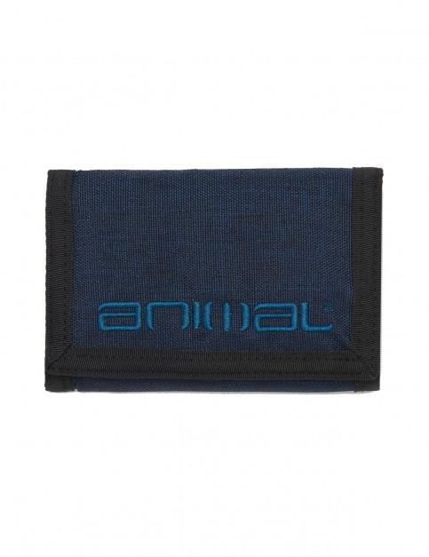 Animal Vex Polyester Wallet in Dark Navy