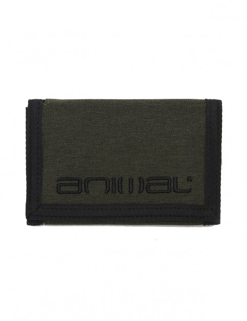 Animal Vex Polyester Wallet in Dusty Olive Green