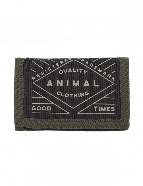 Animal Modify Polyester Wallet in Dusty Olive Green