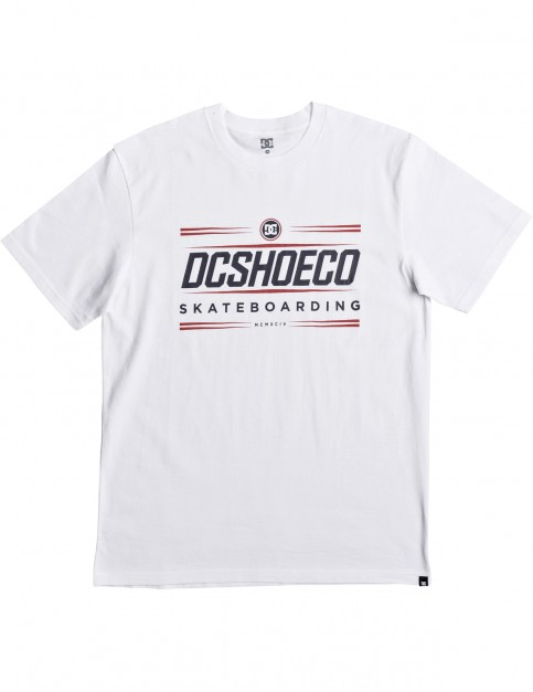 DC Four Base Ss Tee Short Sleeve T-Shirt in Snow White