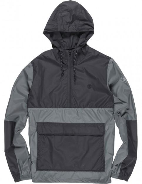Element Alder Pop Rain Jacket in Stone Grey