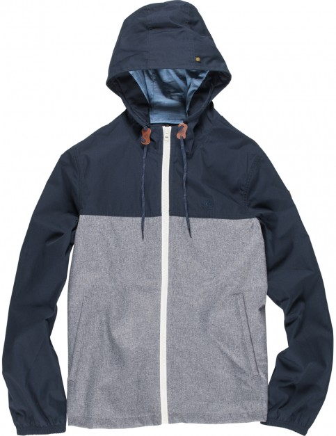 Element Alder Rain Jacket in Navy Grey Heather