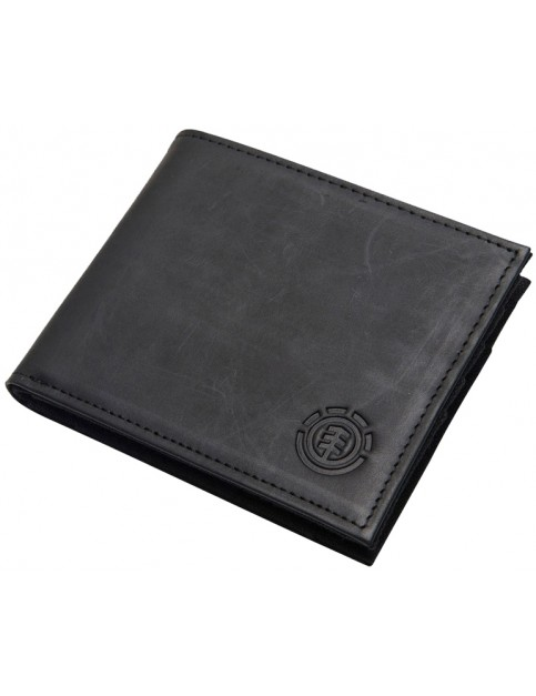 Element Avenue Leather Wallet in Black