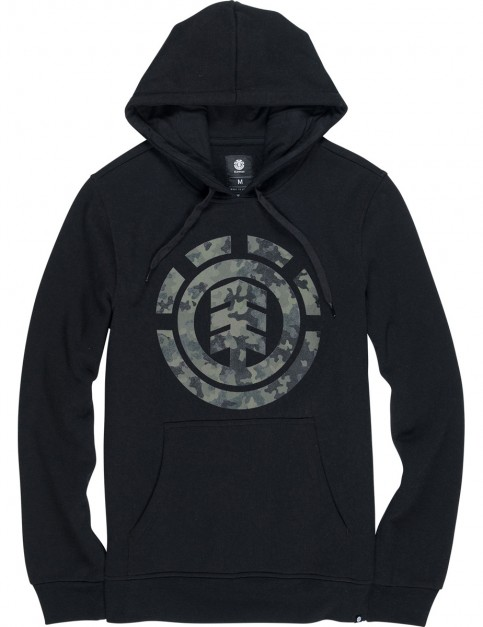 Element Bark Logo Pullover Hoody in Flint Black