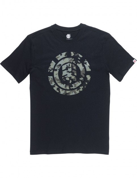 Element Bark Logo Short Sleeve T-Shirt in Flint Black