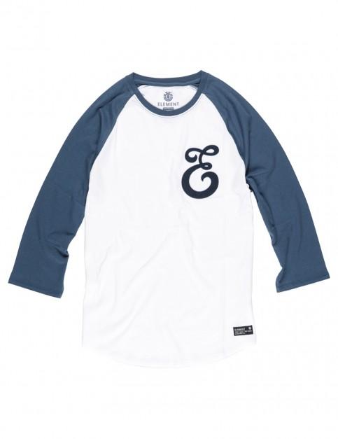 Dark Denim Element Baseball Initial 3/4 Long Sleeve T-Shirt