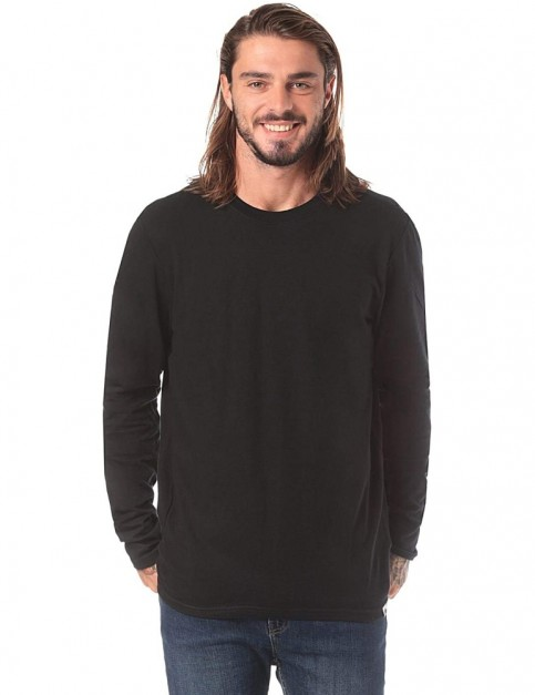Element Basic Crew Long Sleeve T-Shirt in Flint Black