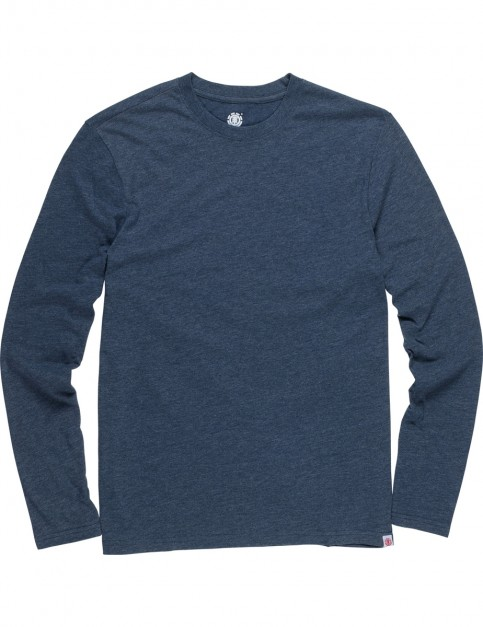 Element Basic Crew Long Sleeve T-Shirt in Indigo Heather