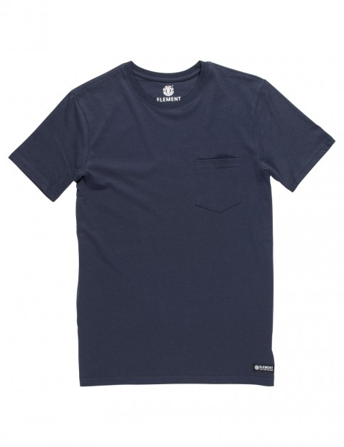 Element Basic Crew Pocket Short Sleeve T-Shirt in Eclipse Navy