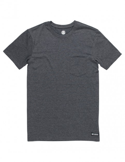 Charcoal Element Basic Crew Pocket Short Sleeve T-Shirt