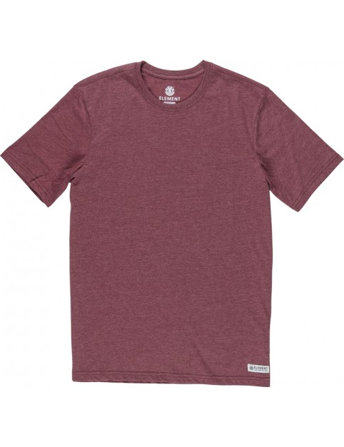 Element Basic Crew Short Sleeve T-Shirt in Oxblood Heather