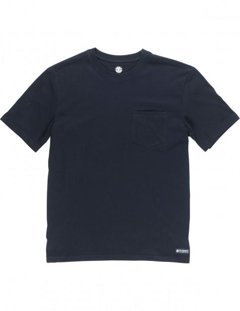 Element Basic Crew Short Sleeve T-Shirt in Flint Black