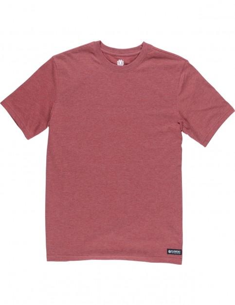 Element Basic Crew Short Sleeve T-Shirt in Syrah Heather