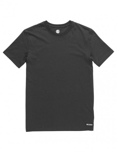 Flint Black Element Basic Crew Short Sleeve T-Shirt