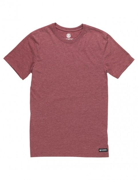 Oxblood Element Basic Crew Short Sleeve T-Shirt