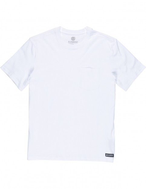 Element Basic Pocket CR Short Sleeve T-Shirt in Optic White