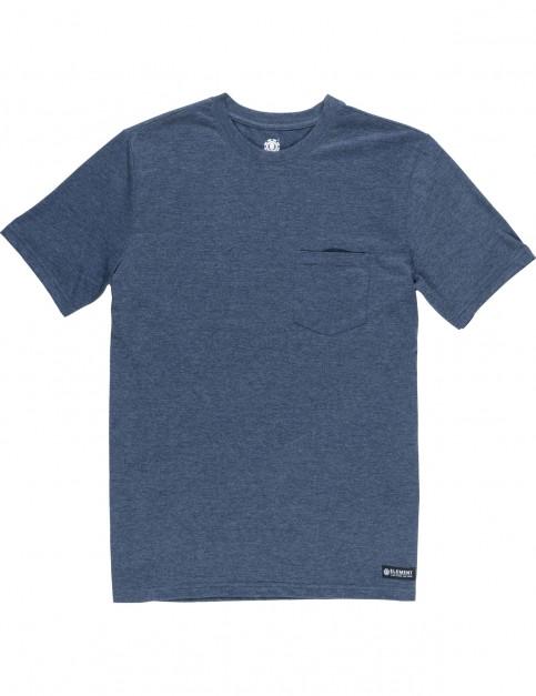 Element Basic Pocket Crew Short Sleeve T-Shirt in Indigo Heather