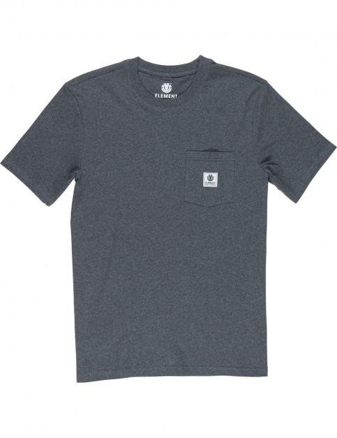Element Basic Pocket Label Short Sleeve T-Shirt in Charcoal Heathe