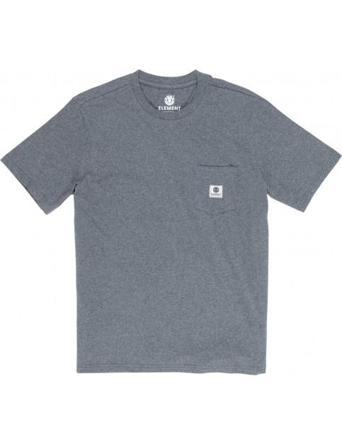 Element Basic Pocket Label Short Sleeve T-Shirt in Charcoal Heather