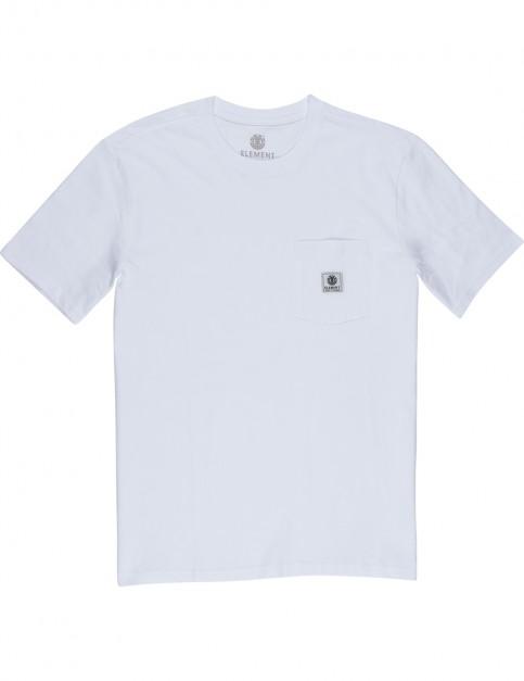 Element Basic Pocket Label Short Sleeve T-Shirt in Optic White