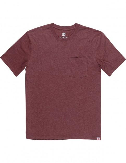 Element Basic Pocket Short Sleeve T-Shirt in Oxblood Heather