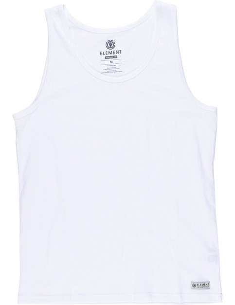 Element Basic Singlet Sleeveless T-Shirt in Optical White