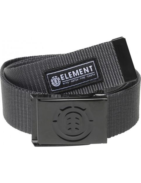 Element Beyond Webbing Belt in Charcoal