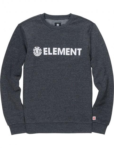 Element Blazin Crew Sweatshirt in Charcoal Heathe