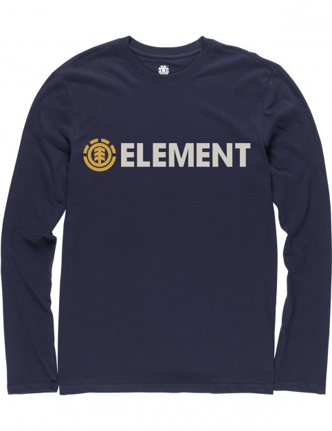 Element Blazin Long Sleeve T-Shirt in Eclipse Navy
