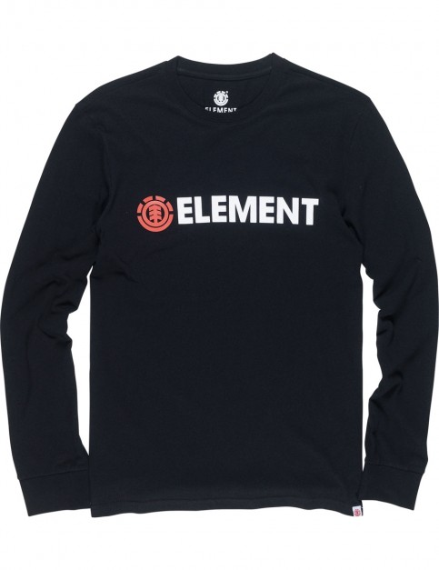 Element Blazin Long Sleeve T-Shirt in Flint Black