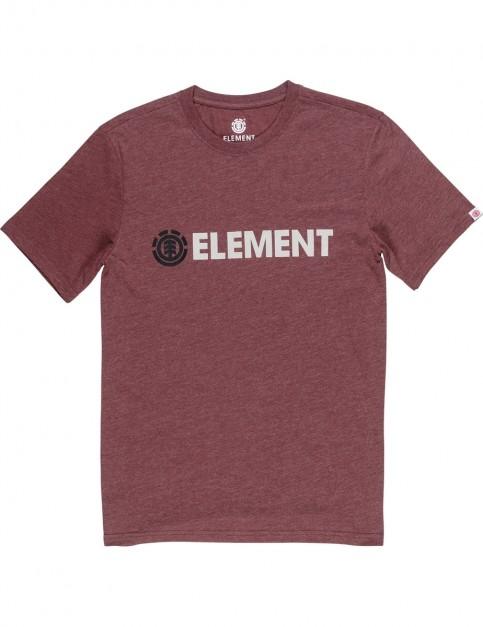 Element Blazin Short Sleeve T-Shirt in Oxblood Heather