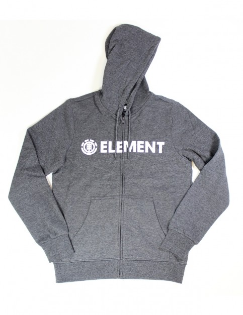 Element Blazin Zipped Hoody in Charcoal Heathe