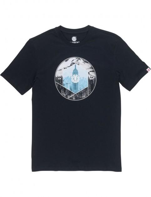 Element Boroughs Short Sleeve T-Shirt in Flint Black
