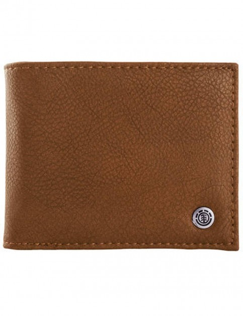 Element Bowo Faux Leather Wallet in Rust Brown
