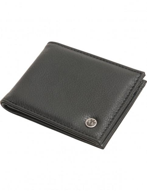 Element Bowo Faux Leather Wallet in Flint Black