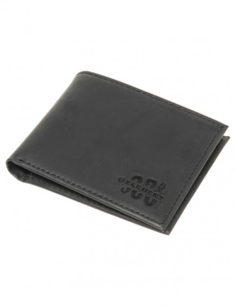 Element Bowo Leather Wallet in Black
