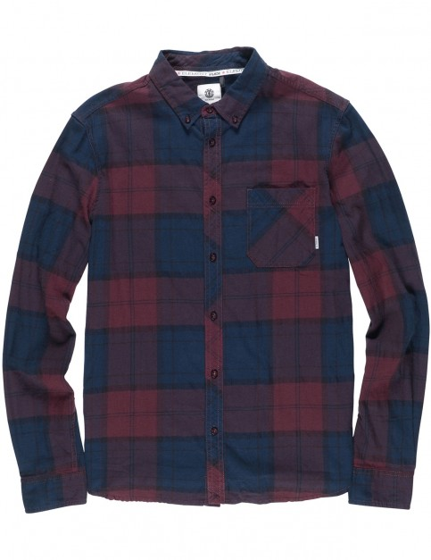 Element Buffalo Long Sleeve Shirt in Napa Red