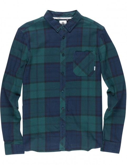 Element Buffalo Long Sleeve Shirt in Ponderosa Green
